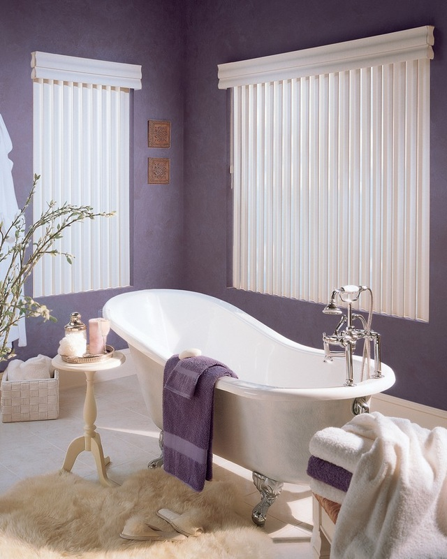 Vertical Blinds Bathroom