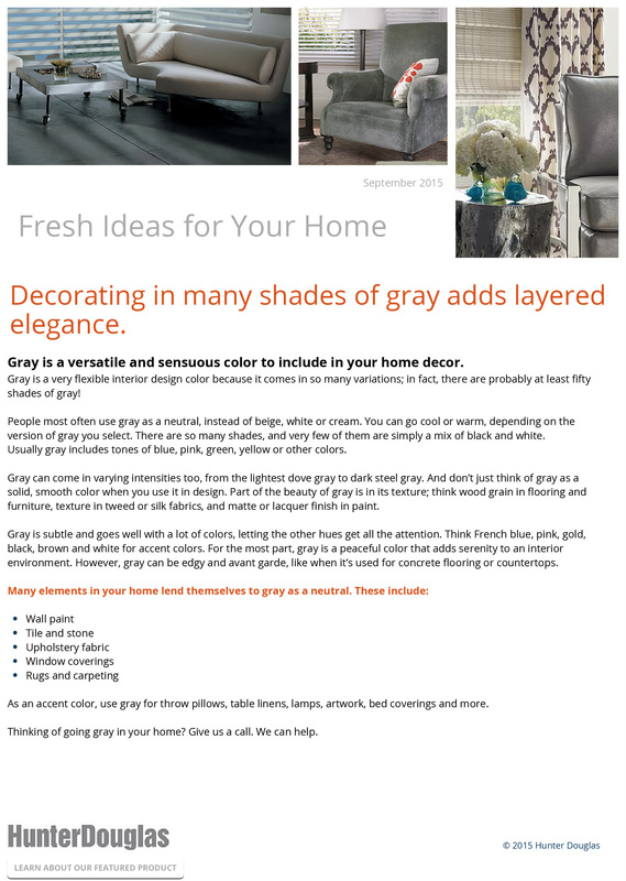 Decorating in many shades of gray adds layered elegance